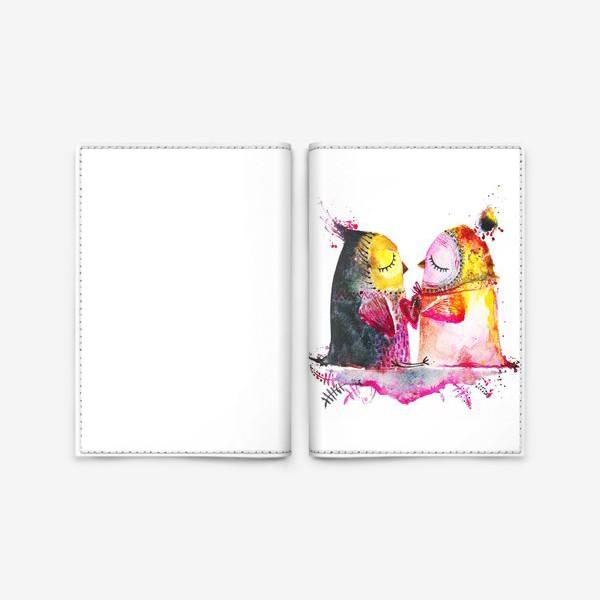 Обложка для паспорта «Совы на облаке»