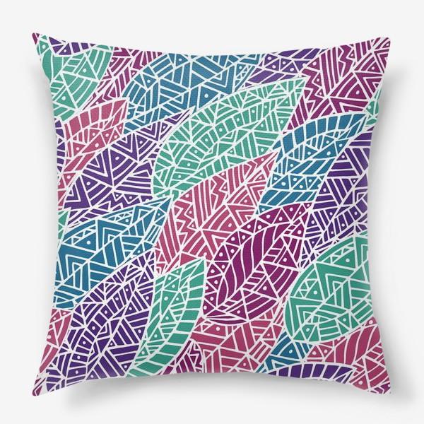 Подушка «Абстрактные листья»