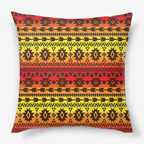 Подушка «яркий этнический орнамент»