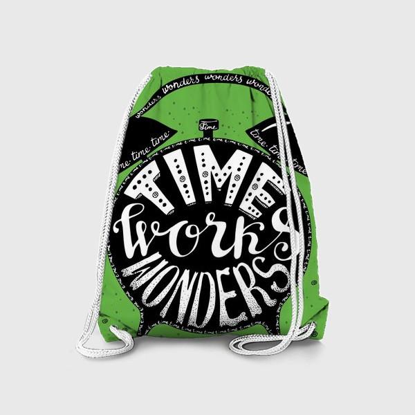 Рюкзак «Будильничек на зеленом»