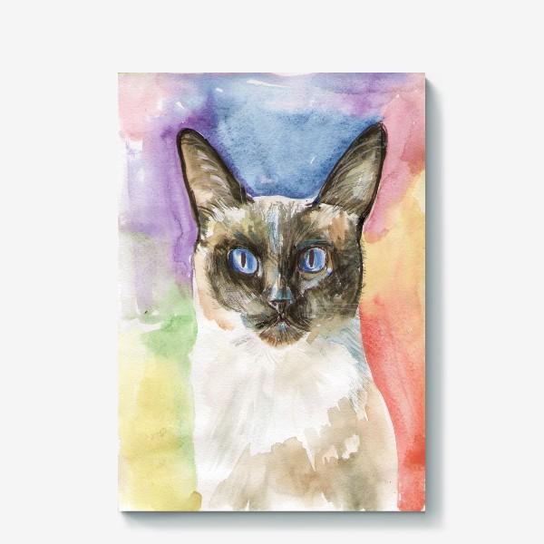 Холст «Тайский котик»