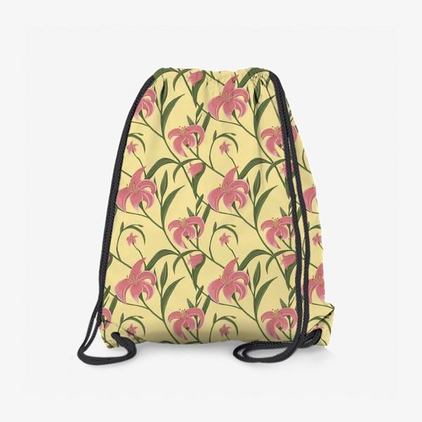 Рюкзак «Цветочный паттерн с лилиями»