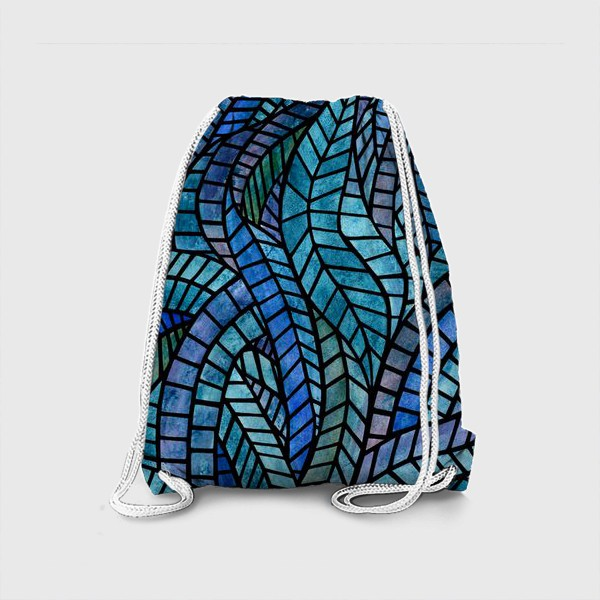 Рюкзак «Голубая геометрическая мозаика Ар нуво»