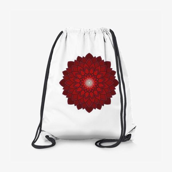 Рюкзак «Мандала красная астра»