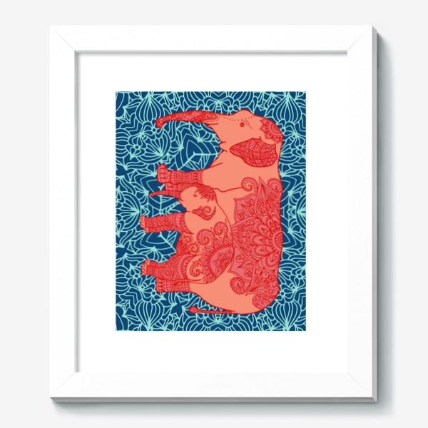 Картина «Индийский слон и слоненок»