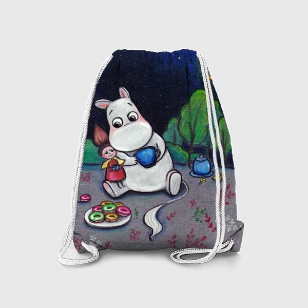 Рюкзак «Ночное чаепитие с Муми-троллем»