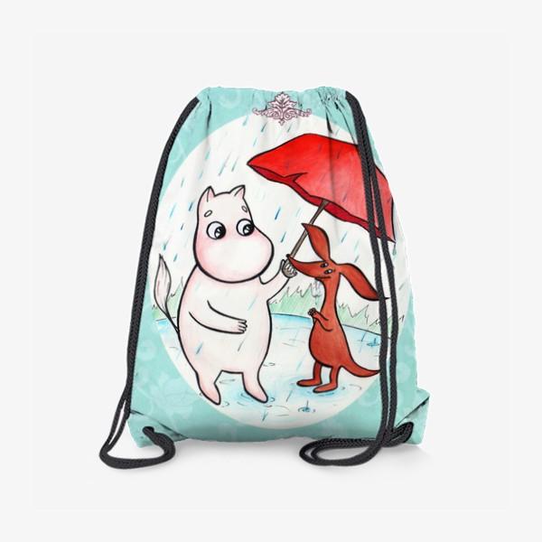 Рюкзак «Муми-тролль и дождь»
