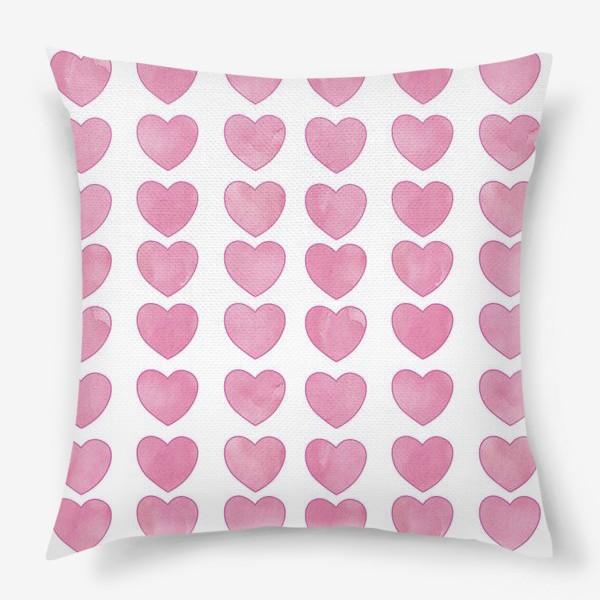 Подушка «Розовые Сердечки»