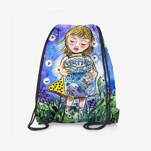 Рюкзак «Девочка и зима в банке»