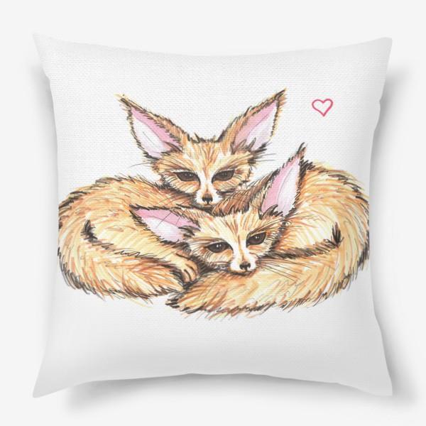 Подушка «Small Foxes»