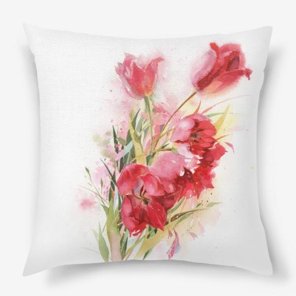 Подушка «Тюльпаны майские»