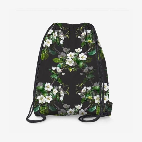 Рюкзак «паттерн с цветущей яблоней»