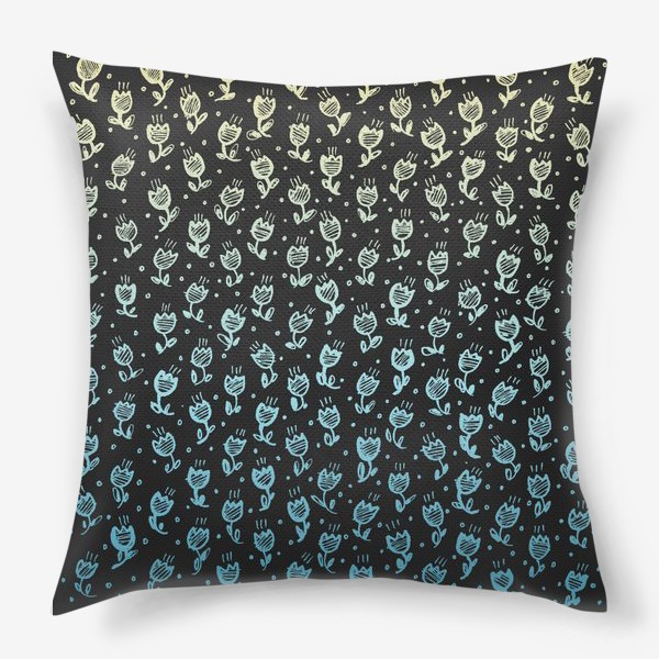 Подушка «Пастельные цветы»