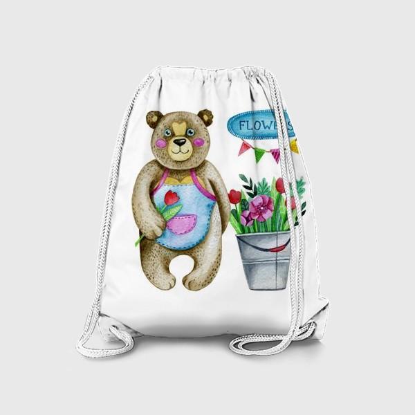 Рюкзак «Мишка с цветами»