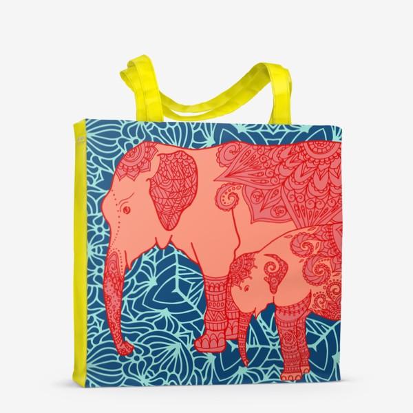 Сумка-шоппер «Индийский слон и слоненок»