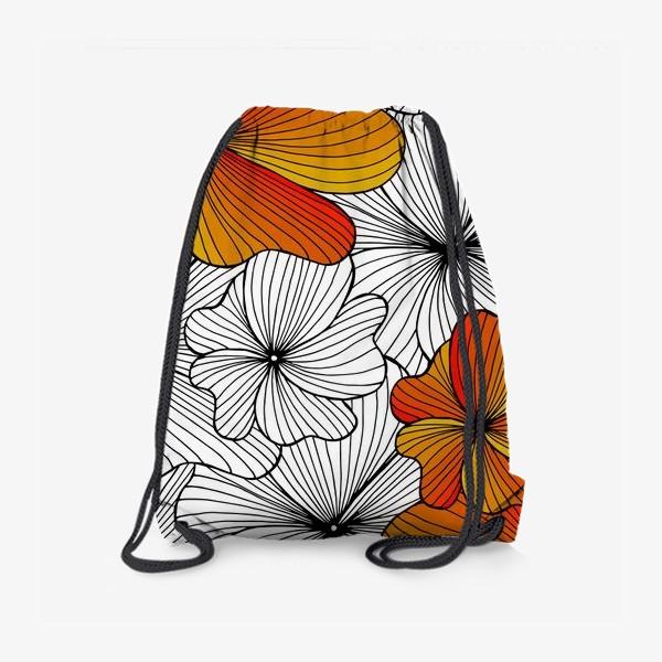 Рюкзак «Осенние оранжевые цветы»