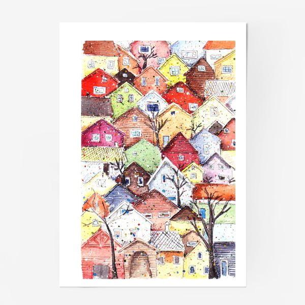 Постер «Домики»
