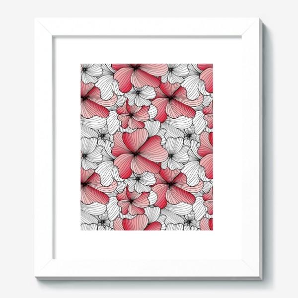 Картина «Вспоминая о весне, розовый цвет сакуры»