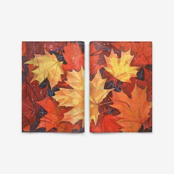 Обложка для паспорта «Осенние листья»
