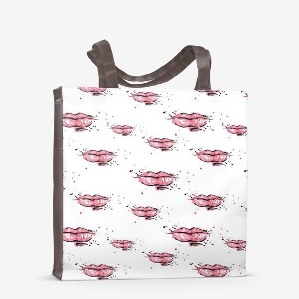 Сумка-шоппер «Красные губки»
