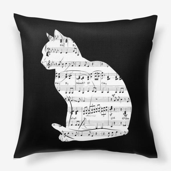 Подушка «Музыкальный кот ноты»