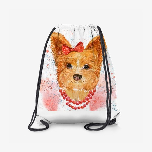 Рюкзак «собака акварель»