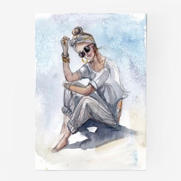 Постер «Девушка в очках»