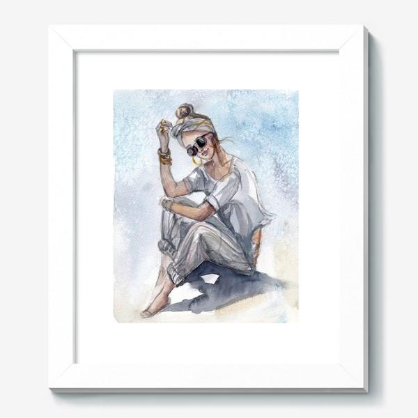 Картина «Девушка в очках»