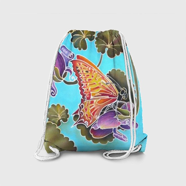 Рюкзак «Цикламен и бабочка »