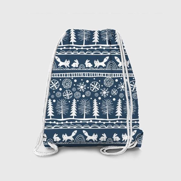 Рюкзак «зимний лес»