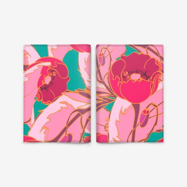 Обложка для паспорта «Маки»