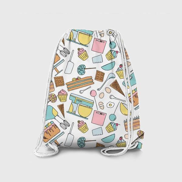Рюкзак «Люблю готовить. Кондитерская. Тортики, капкейки, леденцы»