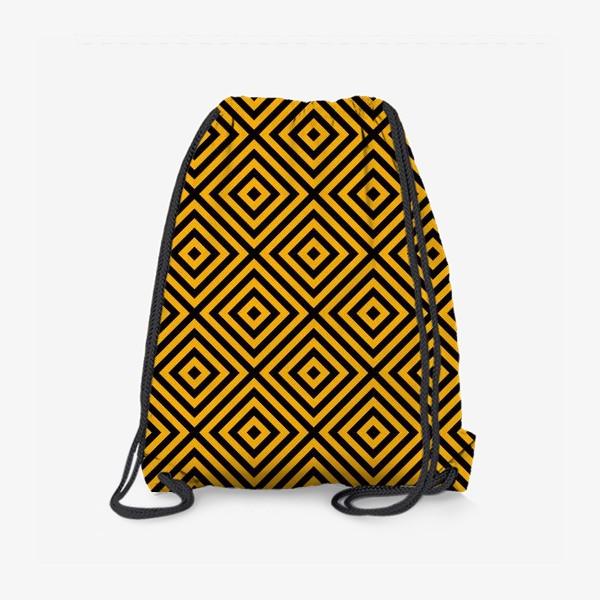 Рюкзак «Золотой абстрактный узор. Abstract gold mosaic»