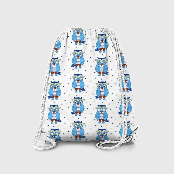 Рюкзак «Синие совы»