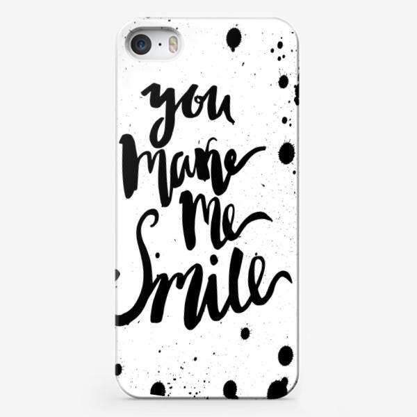 Чехол iPhone «Ты заставляешь меня улыбаться!Леттеринг»