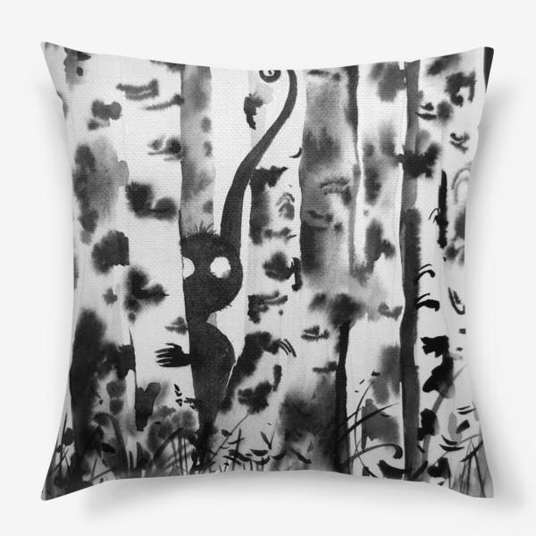 Подушка «Лесной дух в березках»