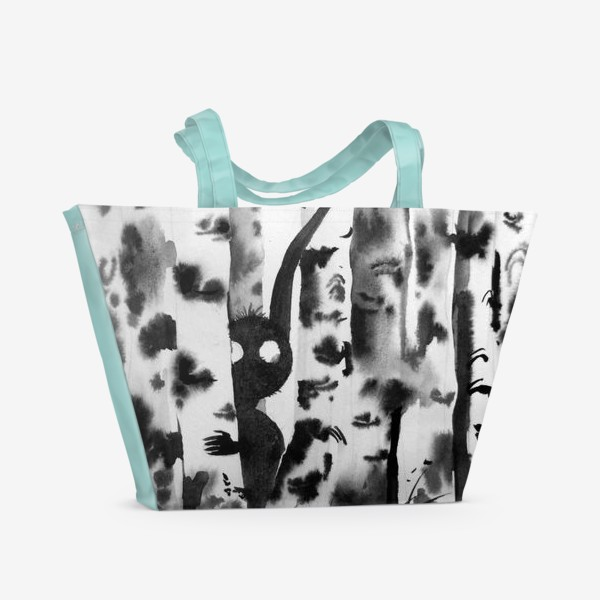 Пляжная сумка «Лесной дух в березках»