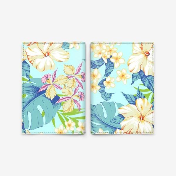 Обложка для паспорта «Цветы. Гавайи.»