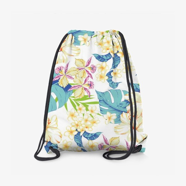 Рюкзак «Цветы. Гавайи. Белый.»