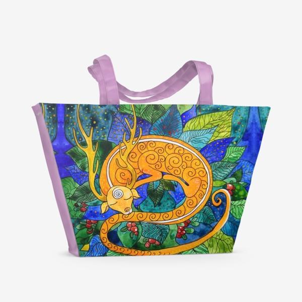 Пляжная сумка «Дракон-олененок»
