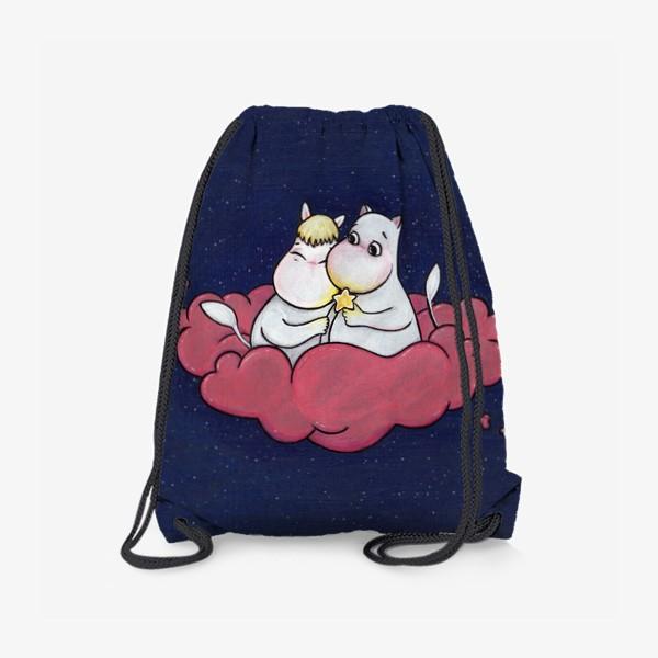 Рюкзак «Муми-тролли на облаке»