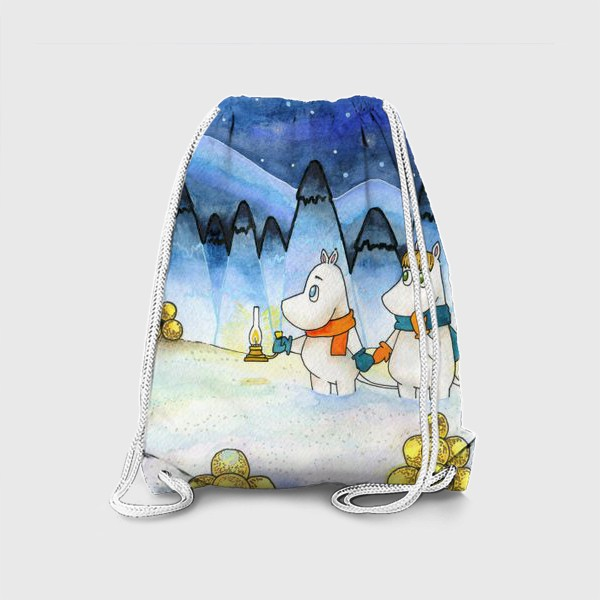 Рюкзак «Муми-Тролли в заснеженном лесу»