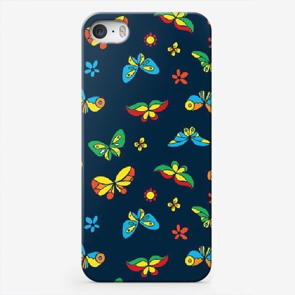 Чехол iPhone «Тропические бабочки»