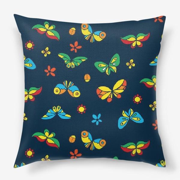 Подушка «Тропические бабочки»