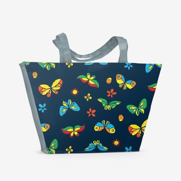 Пляжная сумка «Тропические бабочки»