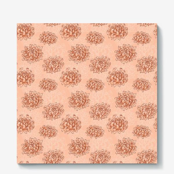 Холст «Розовые хризантемы»
