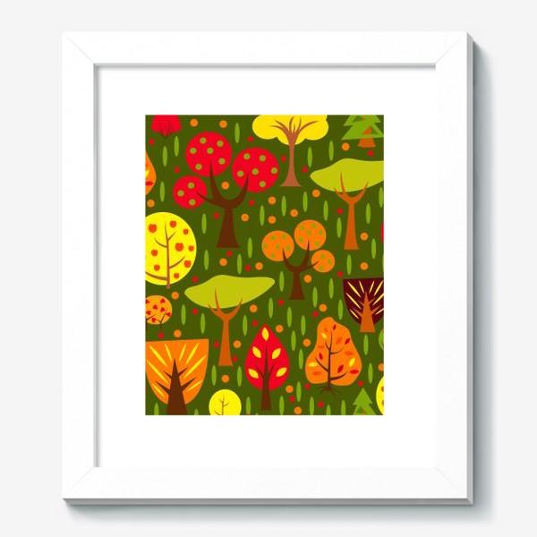 Картина «Осенний мультяшный лес»