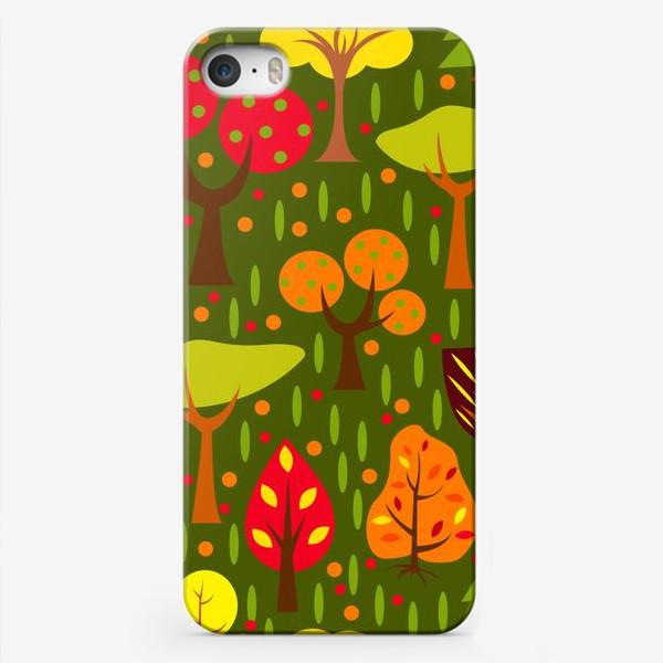 Чехол iPhone «Осенний мультяшный лес»