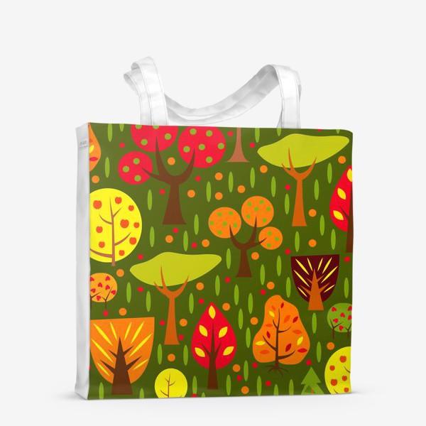 Сумка-шоппер «Осенний мультяшный лес»