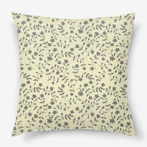 Подушка «plant pattern»